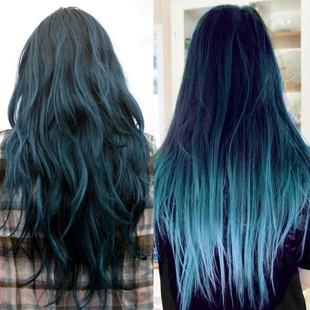 Hair Trends 2015: 10 Hottest Blue Dip Dye Hair Colors For Long With Long Hairstyles Dyed (View 12 of 15)