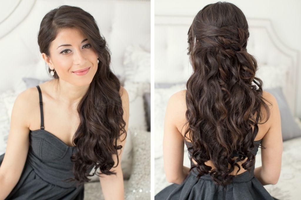 Hairstyles For Long Hair Half Down Wavy Intended For Long Hairstyles Down For Prom (View 12 of 15)