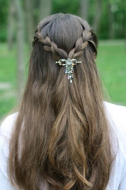 Hairstyles For Long Hair In Hair Clips For Thick Long Hair (View 9 of 15)