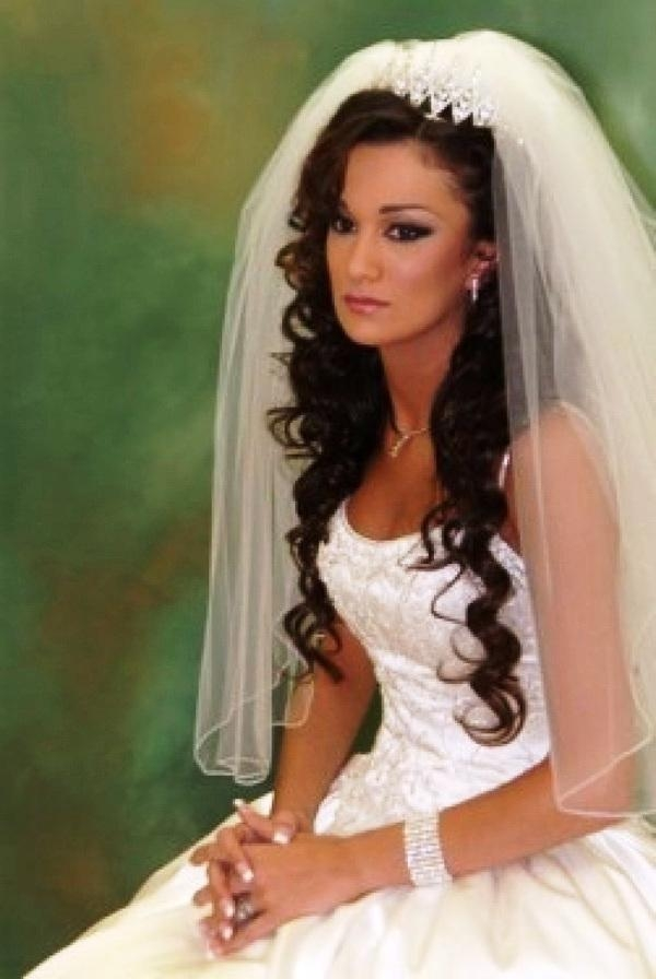 Hairstyles For Long Hair With Veil Within Long Hairstyles Veils Wedding (View 10 of 15)