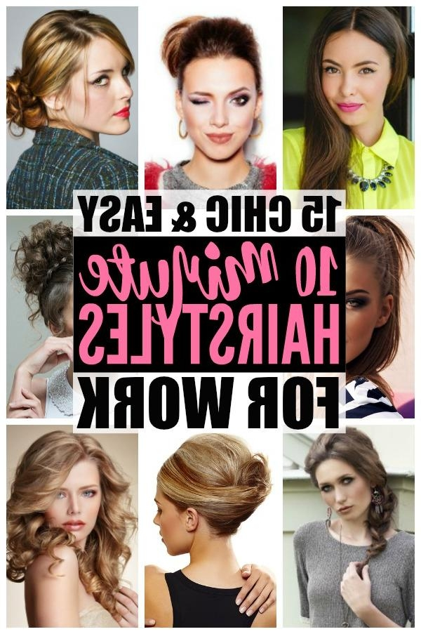 Hairstyles For Work: 15 Easy Hairstyles For Hectic Mornings Within Long Hairstyles For Work (View 15 of 15)