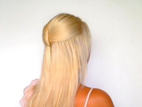 Photo Gallery Of Half Up Hairstyles For Long Straight Hair Viewing
