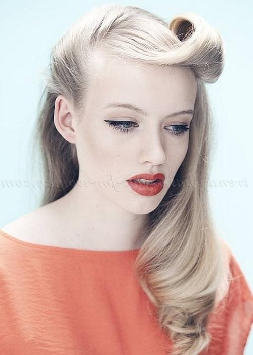 Half Up Half Down Hairstyles – Retro Hairstyle For Long Hair Within Long Hairstyles Retro (View 9 of 15)