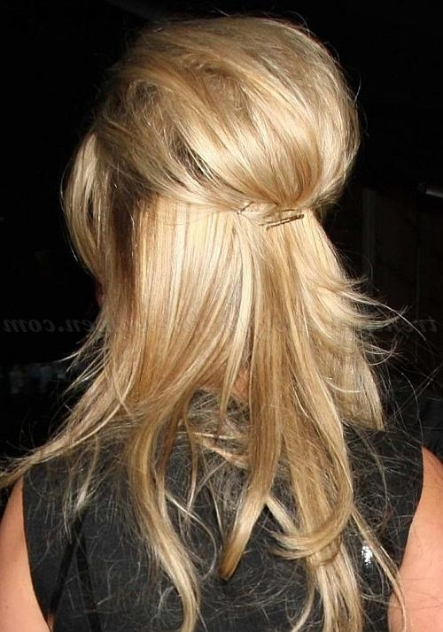 Half Up Half Down Hairstyles – Twisted Half Updo | Trendy Pertaining To Long Hairstyles Half Up Curls (View 15 of 15)
