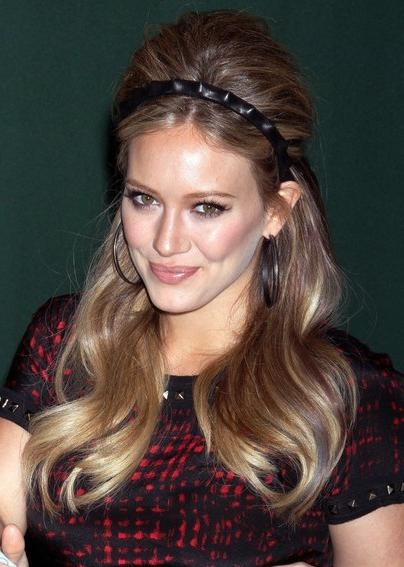 Hilary Duff Long Retro Hairstyle With Headband – Hairstyles Weekly For Long Hairstyles Retro (Gallery 10 of 15)