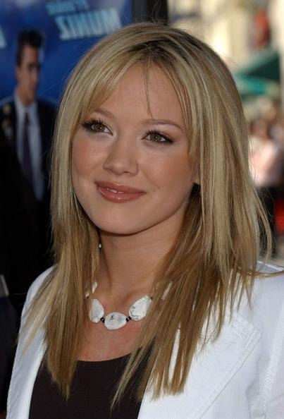 Hilary Duff Long Straight Hairstyle – Hairstyles Weekly Regarding Long Jagged Hairstyles (View 6 of 15)