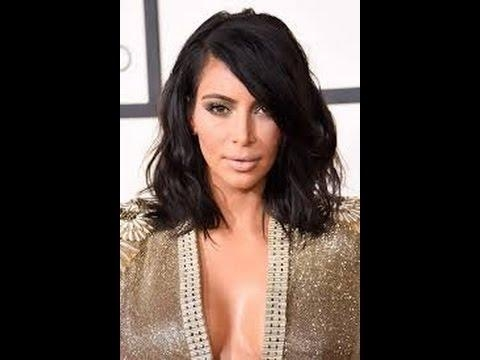 How To: Kim Kardashian Bob In Five Minutes! – Youtube With Regard To Long Bob Hairstyles Kim Kardashian (View 10 of 15)
