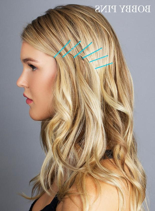 Ideas For Hairstyles With Bobby Pins – How To Use Bobby Pins Pertaining To Long Hairstyles Using Bobby Pins (Gallery 7 of 15)