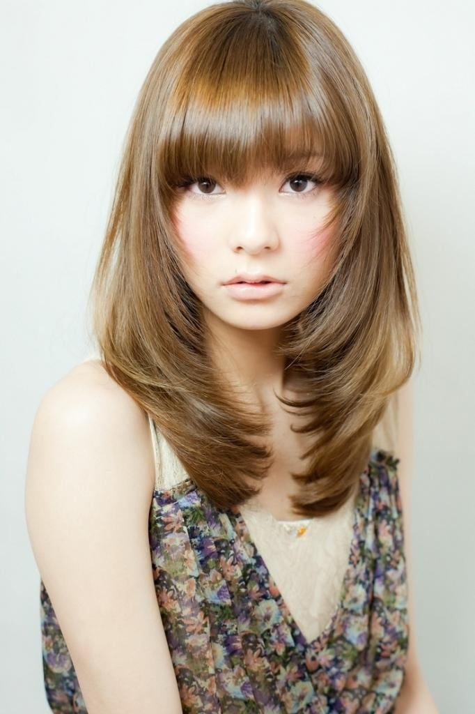 Japanese Long Layered Hairstyles Medium Japanese Hairstyle Intended For Long Layered Japanese Hairstyles (View 6 of 15)