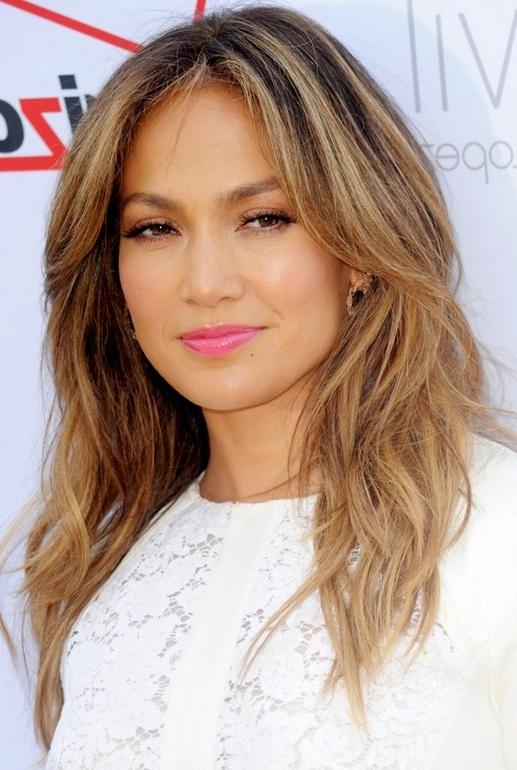 Jennifer Lopez Hairstyles – Celebrity Latest Hairstyles 2016 For Long Layered Hairstyles Jennifer Lopez (View 6 of 15)