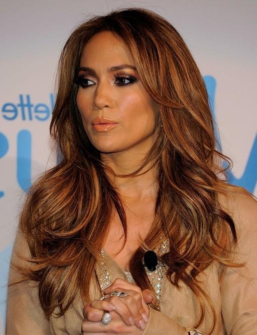 Jennifer Lopez Hairstyles: Long Layered Hairstyle – Popular Haircuts Intended For Long Hairstyles Jennifer Lopez (Gallery 1 of 15)