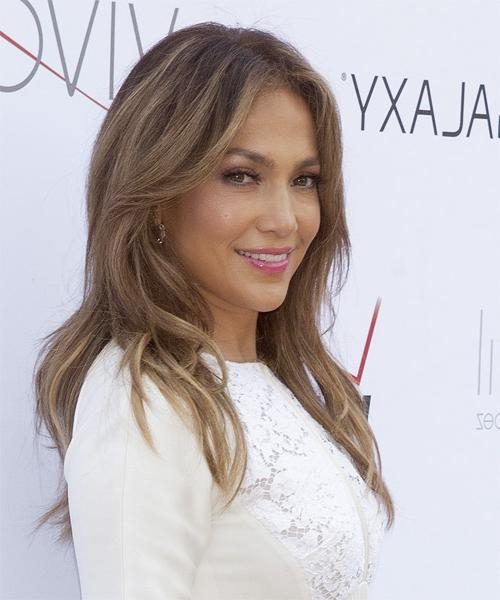 Jennifer Lopez Long Straight Casual Hairstyle – Medium Brunette Inside Long Layered Hairstyles Jennifer Lopez (Gallery 13 of 15)