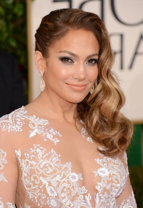 Jennifer Lopez Side Parted Long Hairstyle 2013 – 2013 Red Carpet With Long Hairstyles Red Carpet (View 9 of 15)