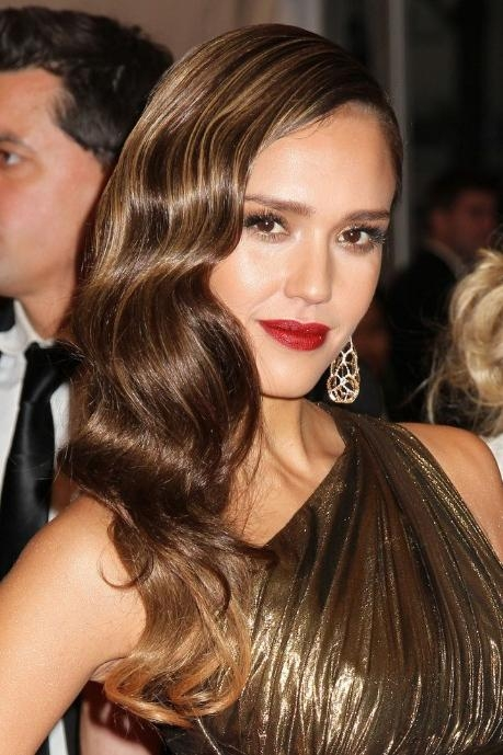 Jessica Alba Long Hairstyle: Glamour Retro Hair Style – Hairstyles With Long Hairstyles Retro (Gallery 13 of 15)