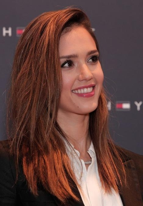 Jessica Alba, Trendy, Long Hair Styles Color 2013 – Popular Haircuts With Regard To Long Hairstyles With Color (Gallery 8 of 15)