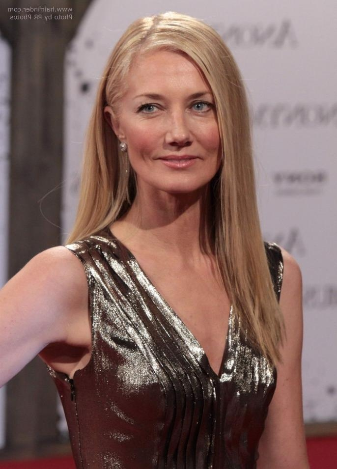 Joely Richardson | Long Straight Hair For Women Past 40 Pertaining To Long Hairstyles After  (View 9 of 15)