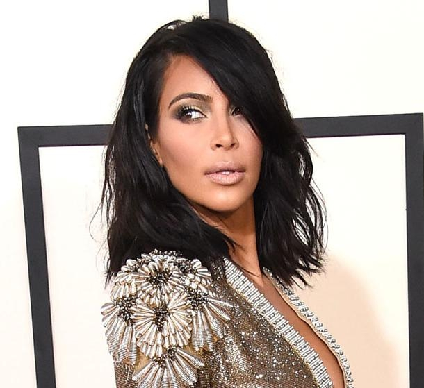 Kim Kardashian Leads Stars Rocking Long Bobs On The Red Carpet Regarding Long Bob Hairstyles Kim Kardashian (View 13 of 15)