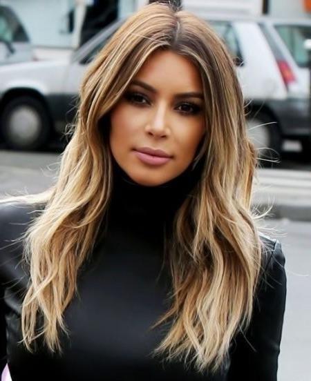 Kim Kardashian Long Layered Hairstyles Layered Hairstyles Long Kim Intended For Long Layered Hairstyles Kim Kardashian (View 13 of 15)