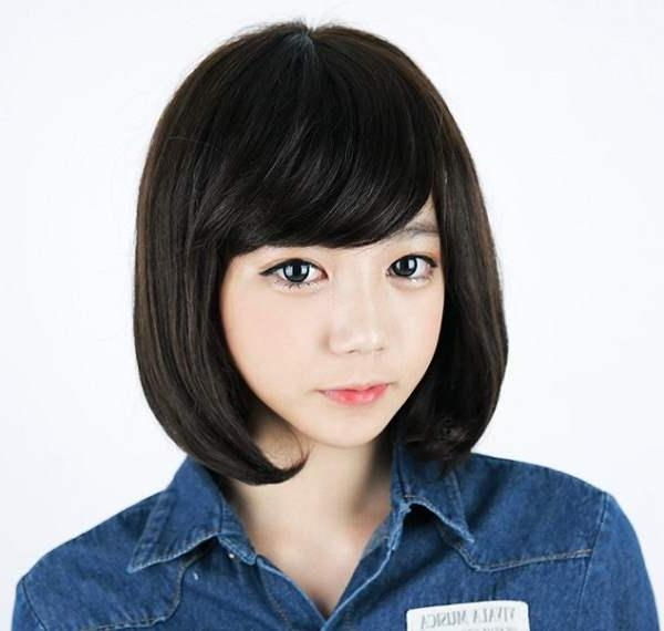 Korean Medium Hairstyles For Girls Long Bob Straight – Zestymag Throughout Long Bob Hairstyles Korean (View 15 of 15)