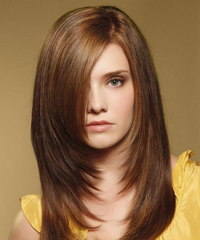 Layered Hairstyles For Long Hair With Side Fringe Throughout Long Hairstyles Layered With Side Bangs (View 11 of 15)