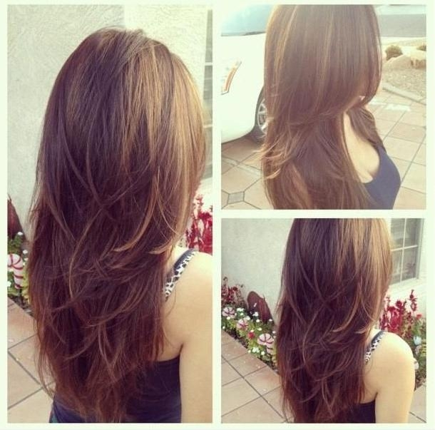 Layered Long Hairstyle For Girls – Hairstyles Weekly Pertaining To Long Hairstyles Back View (View 11 of 15)