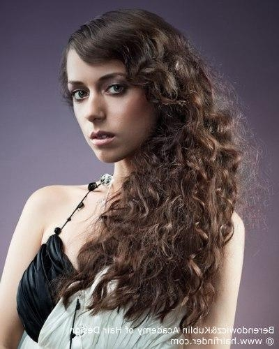 Long 1920s Or 1930s Hairstyle With Curls And The Hair Pulled To Regarding Long Hairstyles In The 1920s (View 10 of 15)
