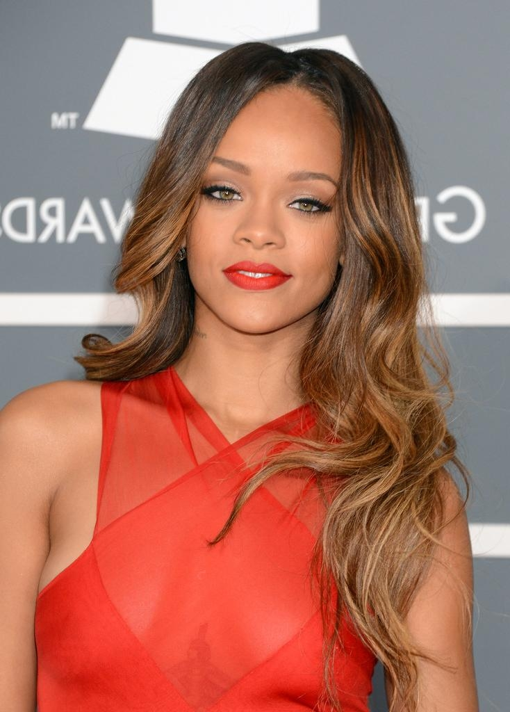 Long Hairstyles And Get Ideas How To Change Your Hairstyle Throughout Long Hairstyles Rihanna (View 7 of 15)