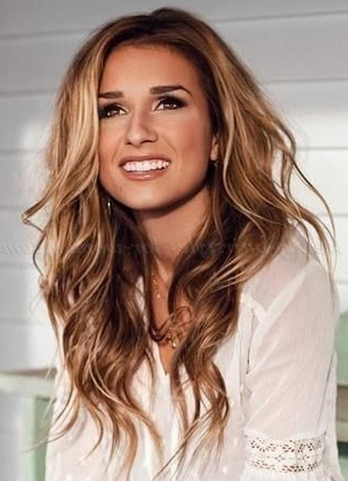 Long Hairstyles – Hair Down Wavy Hairstyle | Trendy Hairstyles For Pertaining To Long Hairstyles Down (View 15 of 15)