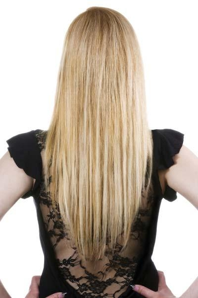 Long Hairstyles: U Shaped, V Shaped Or Straight Across Back? Inside Long Hairstyles V Cut (View 13 of 15)