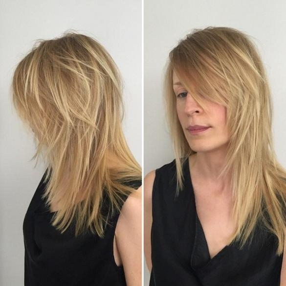 Long Layered Hairstyles Golden Blonde Within Long Hair Shaggy Layers Hairstyles (View 4 of 15)