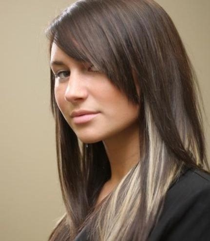 Long Straight Hairstyles: Peekaboo Hair Highlights – Popular Haircuts Intended For Long Hairstyles And Highlights (View 14 of 15)