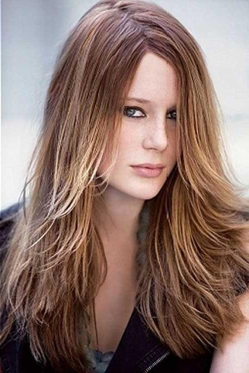 Medium Length Razored Layered Hairstyles Pic Pertaining To Razored Layers Long Hairstyles (View 11 of 15)