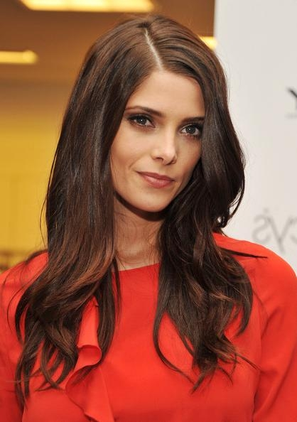 More Pics Of Ashley Greene Long Side Part (4 Of 20) – Long Side Within Long Hairstyles With Side Part (View 13 of 15)