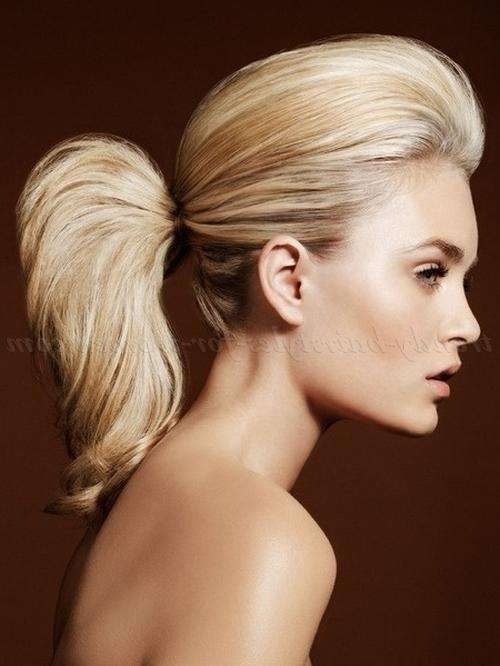 Ponytail Hairstyles – Quiff Ponytail | Trendy Hairstyles For Women With Womens Long Quiff Hairstyles (View 10 of 15)