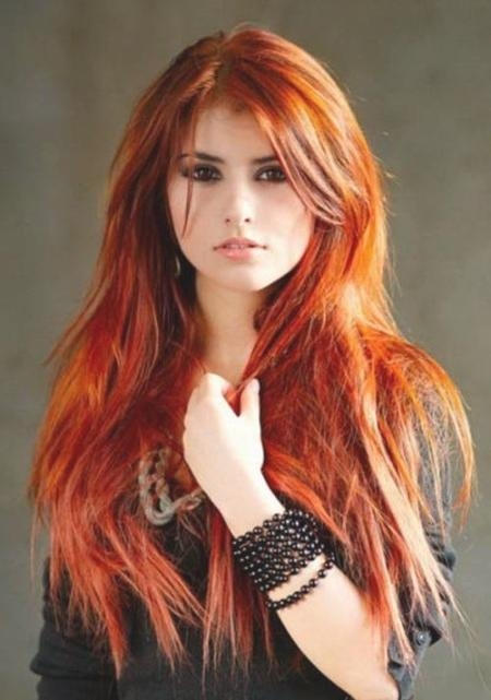 Prime Long Hairstyles Redheads Regarding Long Hairstyles Redheads (View 13 of 15)