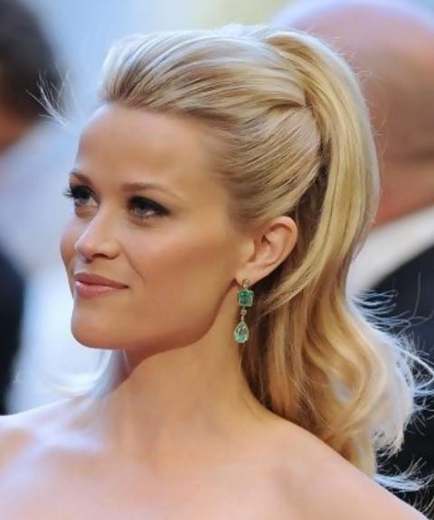 Reese Witherspoon Long Hairstyle: Half Up Half Down Without Bangs Intended For Long Hairstyles Half Up Half Down (View 15 of 15)