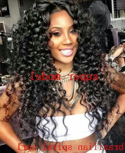 Spiral Curly Hairstyles Brazilain Virgin Hair 3Pcs/lot 12'' 30 Inside Long Virgin Hairstyles (View 15 of 15)