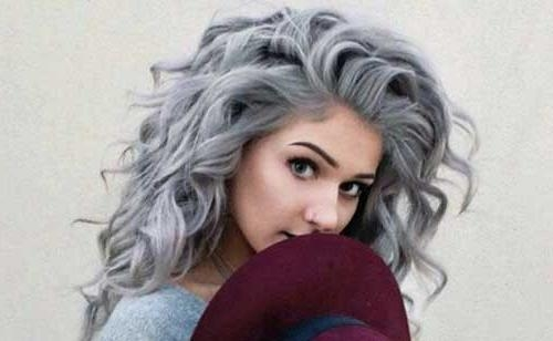 Stunning Grey Curly Hairstyles Gallery – Unique Wedding Hairstyles With Long Hairstyles Grey Hair (View 4 of 15)