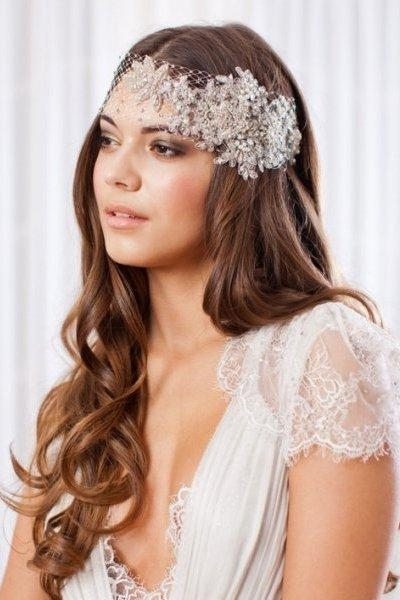 Stunning Wedding Veil Styles With Long Hair Photos – Unique Regarding Long Hairstyles Veils Wedding (View 12 of 15)