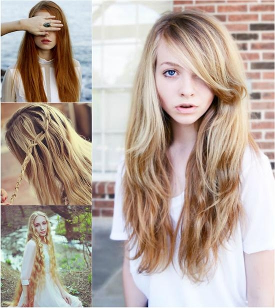 Super Long Hair In Different Colors With Great Length Hair Pertaining To Long Hairstyles Extensions (View 15 of 15)