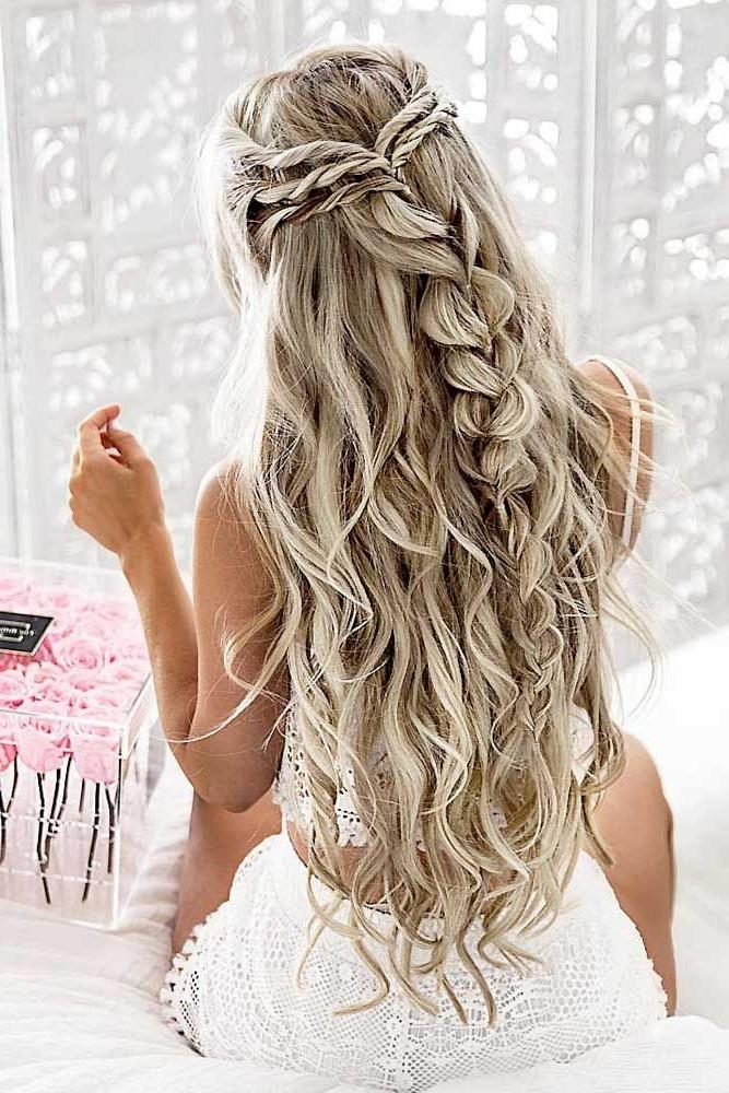 The 25+ Best Curly Braided Hairstyles Ideas On Pinterest | Prom In Long Curly Braided Hairstyles (View 13 of 15)