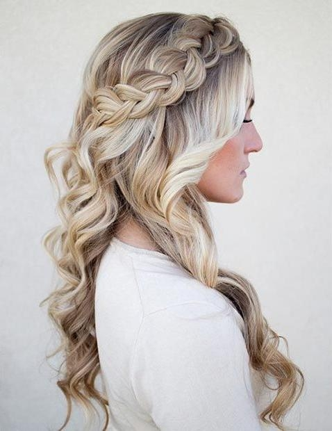 Photo Gallery of Long Curly Braided Hairstyles (Viewing 14 of 15 ...