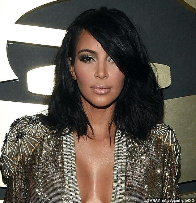 The 25+ Best Kim Kardashian Haircut Ideas On Pinterest | Kim Inside Long Bob Hairstyles Kim Kardashian (View 14 of 15)