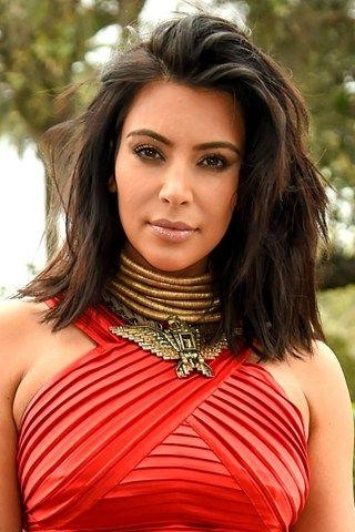 The 25+ Best Kim Kardashian Haircut Ideas On Pinterest | Kim Pertaining To Long Bob Hairstyles Kim Kardashian (Gallery 12 of 15)