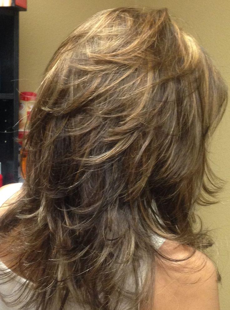 medium length lots of layers hairstyles photo gallery of