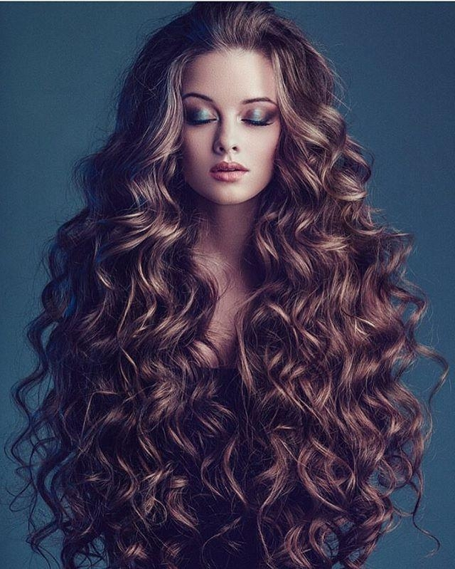 The 25+ Best Long Curly Hair Ideas On Pinterest | Natural Curly Inside Long Hairstyles For Curly Hair (View 13 of 15)
