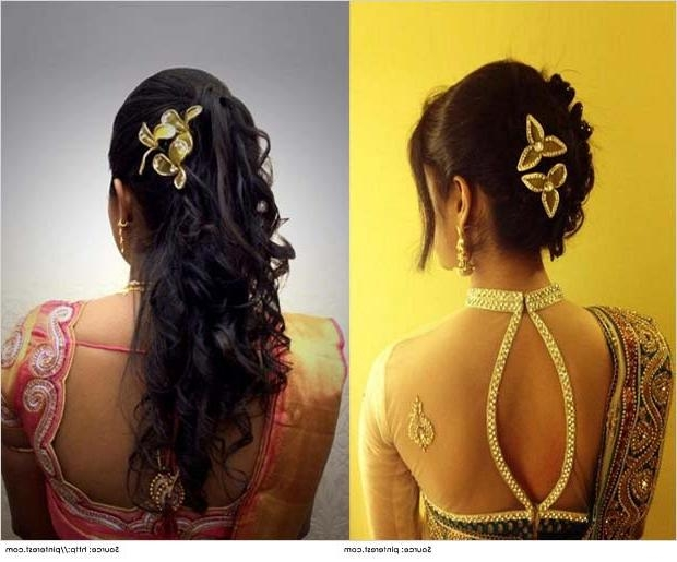 Top 10 Indian Wedding Hairstyles For Sarees Throughout Long Hairstyles In Kerala (View 15 of 15)