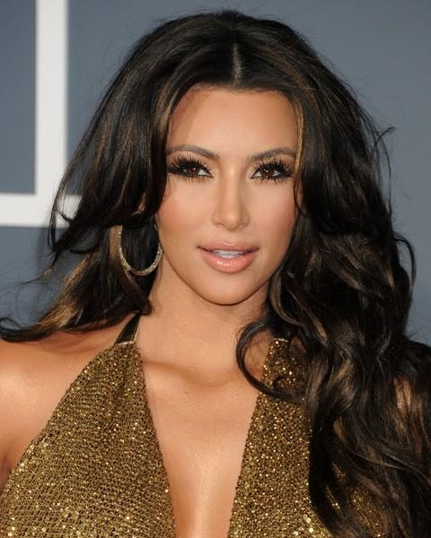 Top 15 Kim Kardashian Hairstyles – Kim Haircuts Pictures – Pretty In Long Voluminous Hairstyles (Gallery 15 of 15)