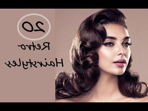 Top 20 Beautiful Retro Hairstyles For Women With Long, Short Throughout Long Hairstyles Retro (View 14 of 15)