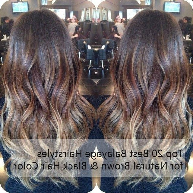 Top 20 Best Balayage Hairstyles For Natural Brown & Black Hair Throughout Long Hairstyles Balayage (View 14 of 15)